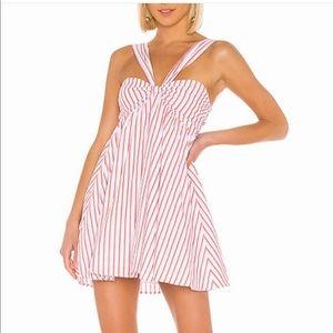 lovers + friends striped mini dress